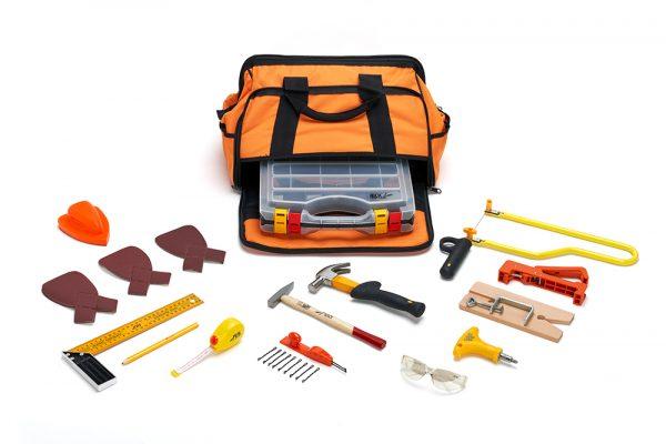 16-delige gereedschapset voor kinderen voor fijne houtbewerking